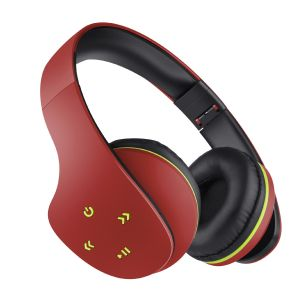 Audífonos Bluetooth ultra confort color rojo