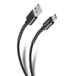 Cable USB A a USB C reforzado, de 1.2 m color negro