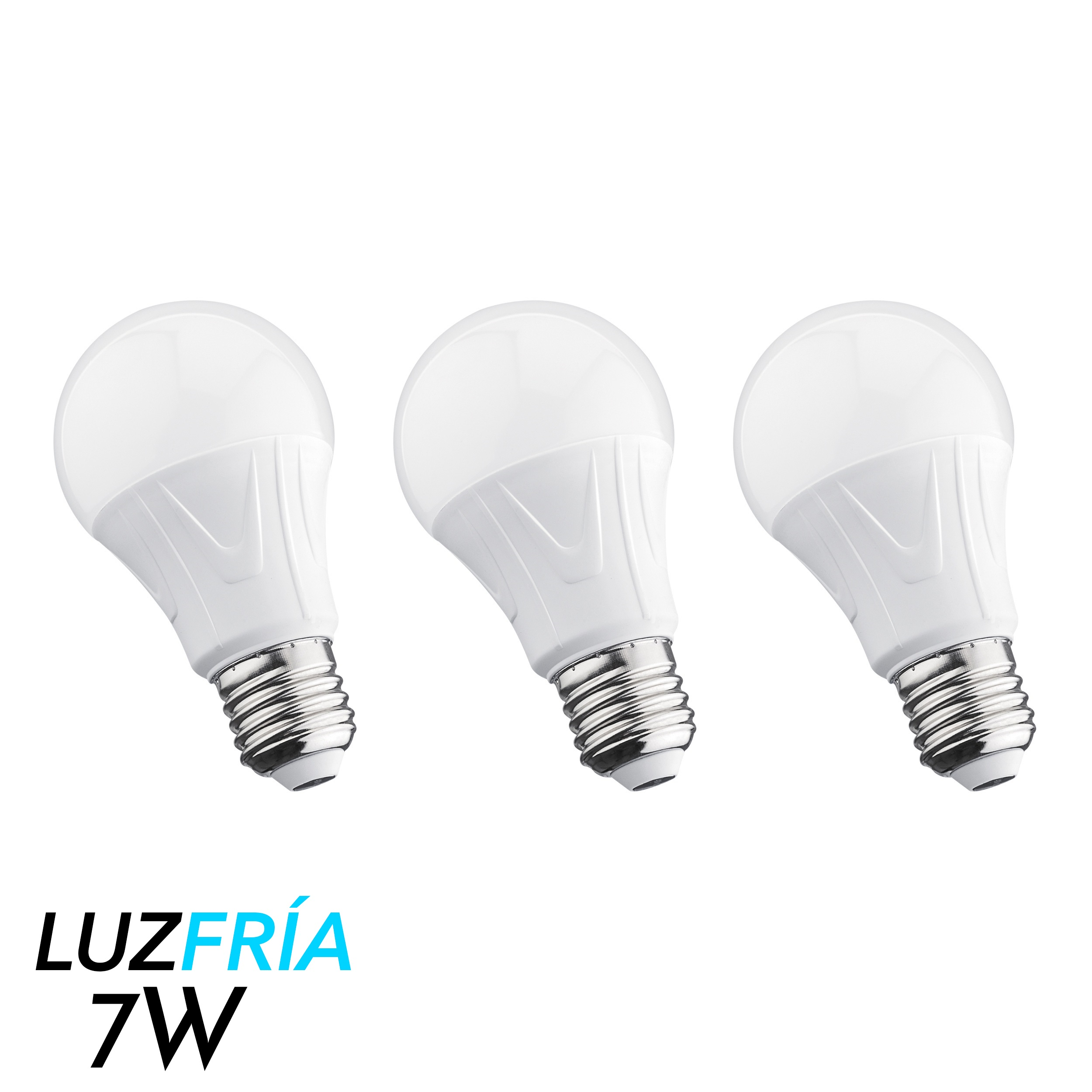 3 focos led de luz fr a 7 w for Focos led para casa